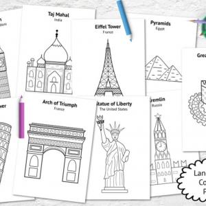 Landmark Coloring Page